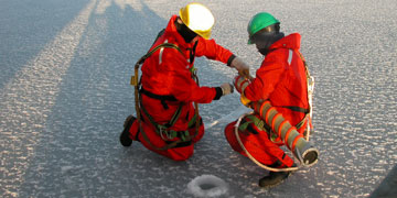 Ice sampling Canadian Beaufort Sea. Photo: Michel Poulin, Canadian Museum of Nature