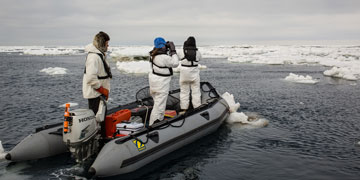 Searching for ice associated marine mammals. Photo: Josh London, Alaska Fisheries Science Center, NOAA Fisheries Service