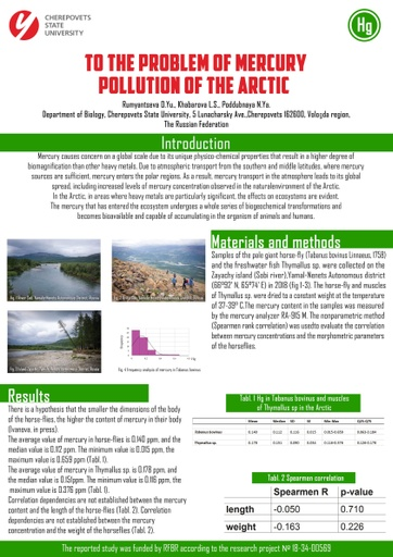 To the problem of mercury pollution of the Arctic