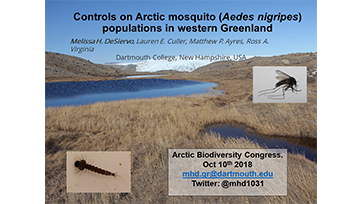 Controls on Arctic mosquito (Aedes nigripes) populations in western Greenland: Melissa H. Desiervo