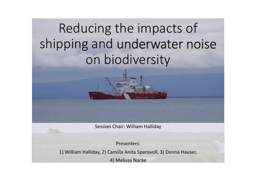 The state of underwater noise throughout the Arctic marine environment: a review: William Halliday