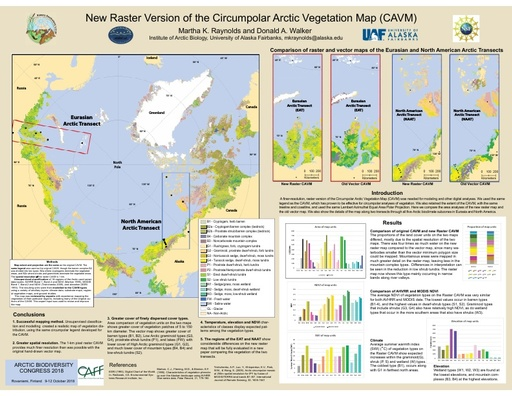 A Raster Version of the Circumpolar Arctic Vegetation Map (CAVM)