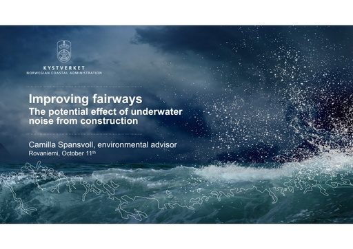 The potential effect of underwater noise from construction and explosives when improving fairways: Camilla Anita Spansvoll
