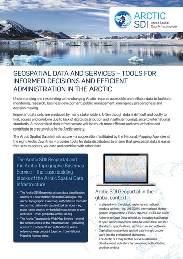 Arctic data sharing – Online Arctic Maps, Data services and tools