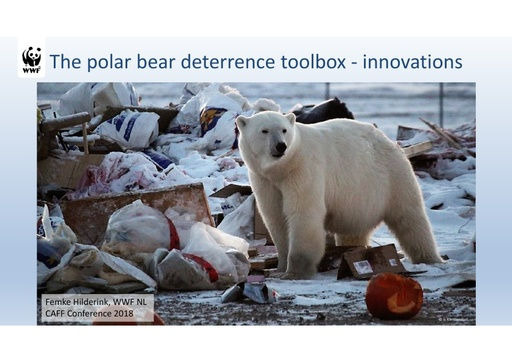 The polar bear deterrence toolbox: innovations: Femke Hilderink