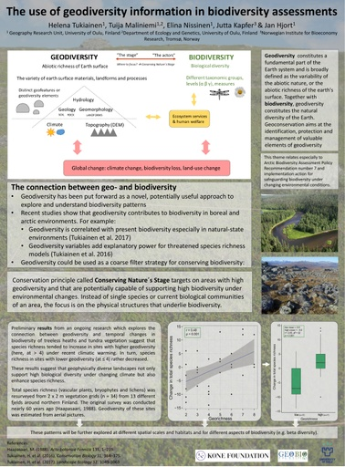 The use of geodiversity information in biodiversity assessments