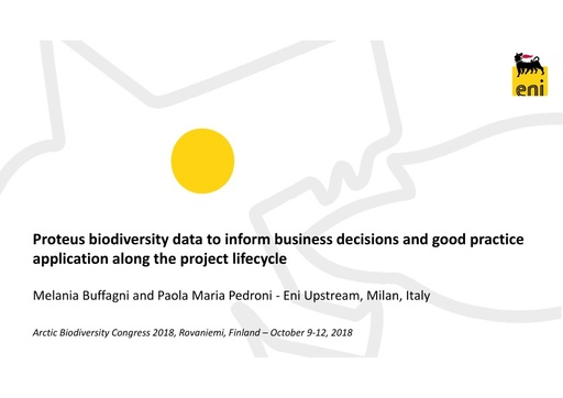 Biodiversity data in decision making, how global data support businesses: Melania Buffagni